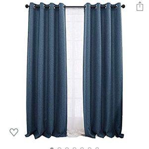 Denim Blue Room Darkening Curtains